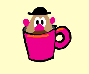 Mr. Potato Head in a Cup