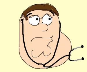 A tired Doctor Peter Griffin