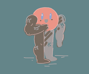 Kirby with human limbs