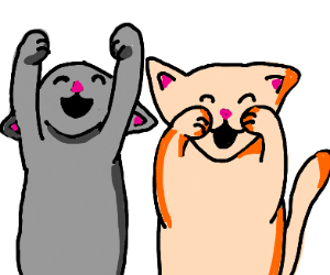 Excited Kitties