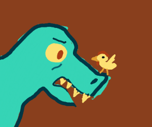 T-rex meets Chicken