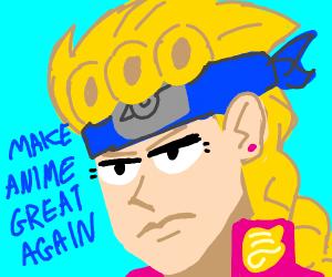 Naruto headband Giorno wants anime 2B good