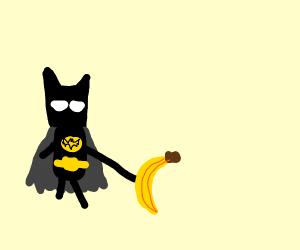 Batman with a banana