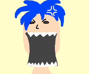 anime character w blue hair