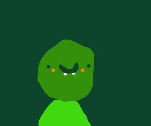 happy green alien