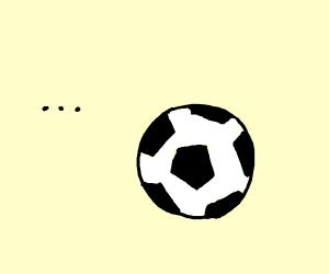 sad soccer ball