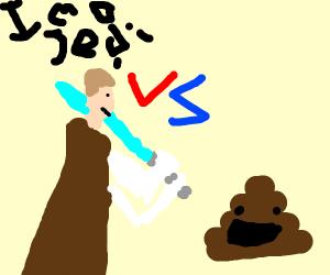 Jedi vs poop emoji