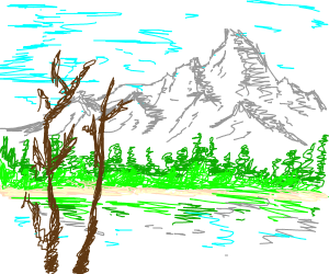Draw a Bob Ross Landscape Painting