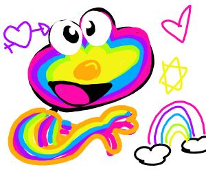 A rainbow elmo