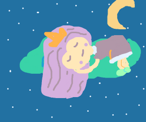 princess sleeping on a cloud