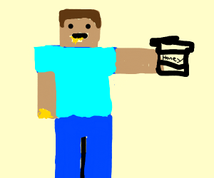 Steve eats honey