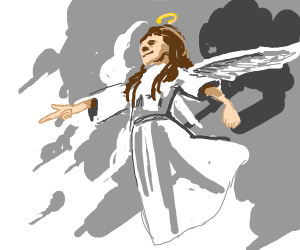 angel pointing