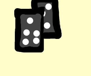 two black dominoes