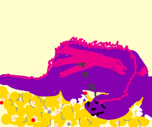 Dragon on a pile of gold