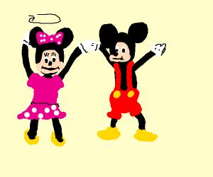mickey and minnie twerking vigorously