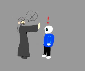 Gandalf won't let Sans pass