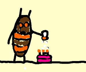 Cockroach salting cake