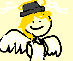 angel with a bowler