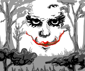 the ghost of joker in a forest