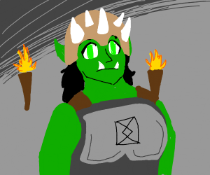 orc woman with a spikey helmet