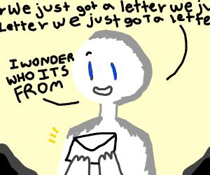 Man holding envelope