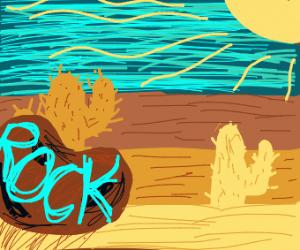 Giant rock in the desert