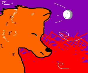 A sad furry