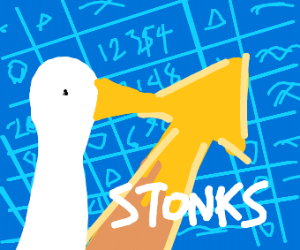 Stonks but with the evil goose