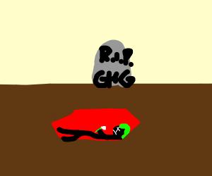 green haired boy is dead