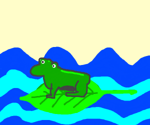 The frog from Star fox