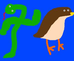 1 snake > 2 ducks