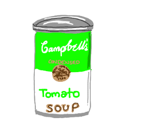 Lime green Campbell's soup