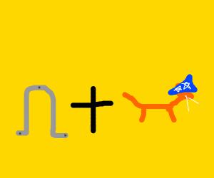 Horseshoe plus wizard cat