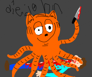 oh god oh f--k garfield octopus kills jon