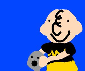 Reverse Charlie Brown Grabs Grey Man's Head