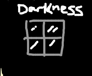 window in the dark