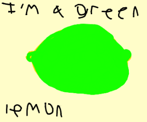 a green lemon