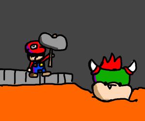 Mario murders Bowser