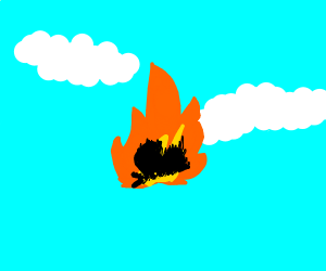 Butterfly is so hot that it caught on fire