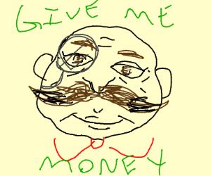 Horrifying pringles man wants your money