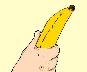 Holding a Banana