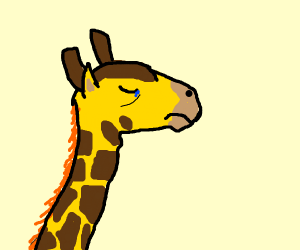 Depressed giraffe