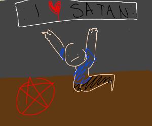 Smol boy summons Satan