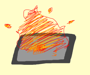 Phone is liter overheated. It's on fire.