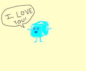 Cute Ice cube man