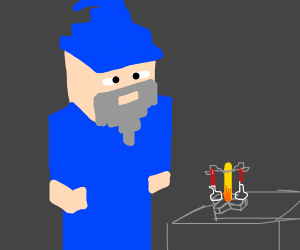 Wizard making a potion