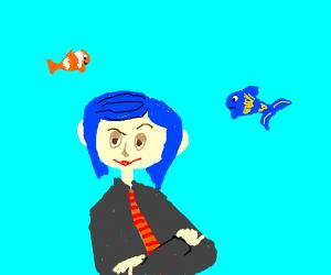 Coraline at aquarium