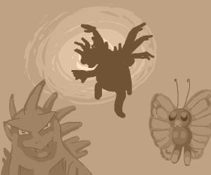 Tyranitar vs Butterfree vs Hydreigon