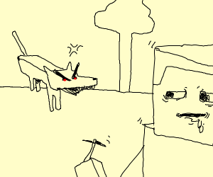 minecraft wolf gone fERAL