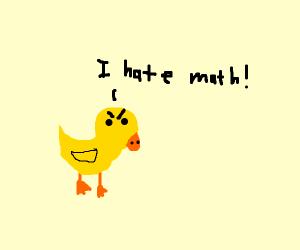 duck hates math